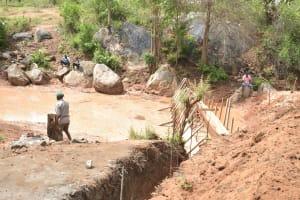 The Water Project: Katuluni Community B -  Sand Dam Progress