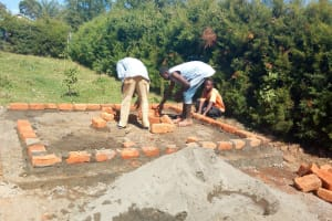 The Water Project: Kaimosi Demonstration Secondary School -  Latrine Construction