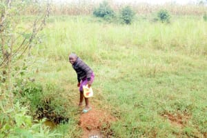 The Water Project: Munyanza Primary School -  Waiting For Mud To Settle Before Fetching