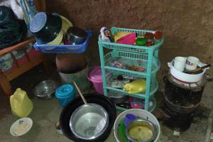 The Water Project: Shihungu Community, Shihungu Spring -  Storage In Home
