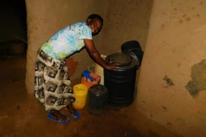 The Water Project: Mukhunya Community, Mwore Spring -  Water Storage