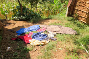 The Water Project: Shisere Community, Francis Atema Spring -  Clothes Drying On The Ground