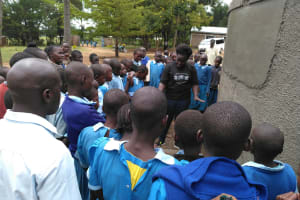 The Water Project: Shivanga Primary School -  Tank Care Training