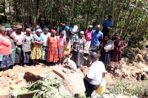 The Water Project: Upper Visiru Community, Wambosani Spring -  Spring Care Training