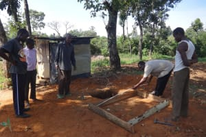 The Water Project: Shitirira Community, Peninah Spring -  Sanitation Platform Construction