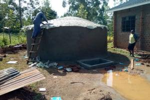 The Water Project: Lwanda Secondary School -  Tank Construction