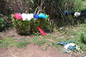 The Water Project: Shihungu Community, Shihungu Spring -  Clothes Drying