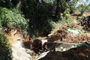 The Water Project: Shitirira Community, Peninah Spring -  Spring Construction