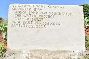 The Water Project: Ngitini Community C -  Well Plaque