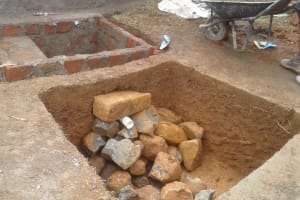 The Water Project: Lwanda Secondary School -  Soak Pit Construction