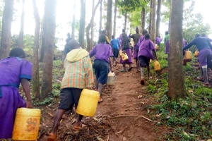 The Water Project: Munyanza Primary School -  Carrying Water