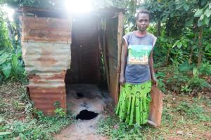The Water Project: Shisere Community, Richard Okanga Spring -  Josephine Next To A Dangerous Latrine