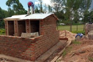 The Water Project: Gidagadi Secondary School -  Latrine Construction