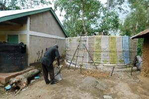 The Water Project: Eshisenye Primary School -  Tank Construction