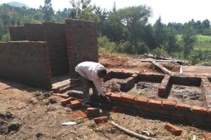 The Water Project: Shivanga Primary School -  Latrine Construction