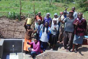 The Water Project: Ivinzo Commuity, Mushianda Spring -  Flowing Water