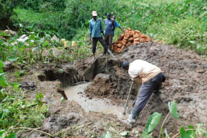 The Water Project: Koitabut Community, Henry Kichwen Spring -  Spring Excavation