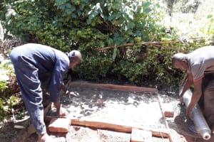 The Water Project: Upper Visiru Community, Wambosani Spring -  Sanitation Platform Construction