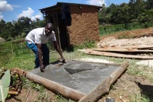 The Water Project: Shitirira Community, Peninah Spring -  Finished Sanitation Platform