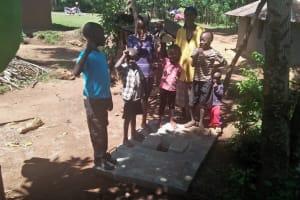 The Water Project: Emasera Community, Visenda Spring -  Finished Sanitation Platform