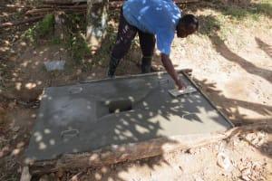 The Water Project: Elutali Community, Obati Spring -  Sanitation Platform Construction