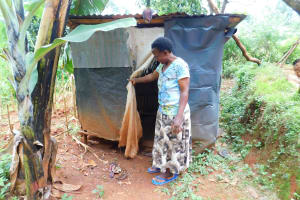 The Water Project: Mukhunya Community, Mwore Spring -  Latrine