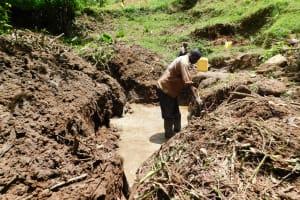 The Water Project: Koloch Community, Solomon Pendi Spring -  Excavation