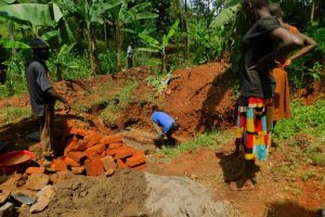 The Water Project: Asimuli Community, John Omusembi Spring -  Spring Construction