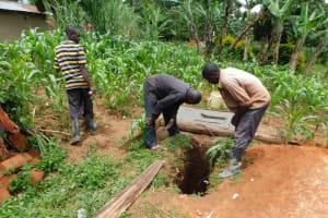 The Water Project: Koitabut Community, Henry Kichwen Spring -  New Pit Dug For A Sanitation Platform