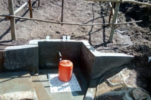 The Water Project: Emasera Community, Visenda Spring -  Water Flowing