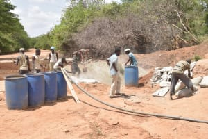 The Water Project: Katuluni Community B -  Sand Dam Construction