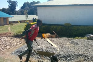 The Water Project: Kaimosi Demonstration Secondary School -  Tank Construction