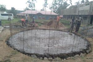 The Water Project: Naliava Primary School -  Tank Construction