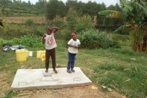 The Water Project: Emaka Community, Ateka Spring -  New Latrine Platform