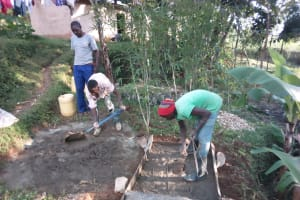 The Water Project: Samisbei Community, Isaac Rutoh Spring -  Sanitation Platform Construction