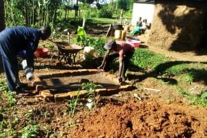 The Water Project: Chepnonochi Community, Chepnonochi Spring -  Sanitation Platform Construction