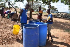 The Water Project: Kyaani Primary School -  Tank Construction