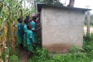 The Water Project: Ebutenje Primary School -  Latrines