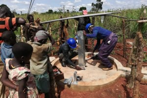 The Water Project: Katugo Community A -  Construction