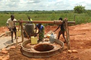 The Water Project: Katugo Community B -  Lining