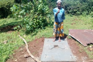 The Water Project: Samisbei Community, Isaac Rutoh Spring -  Sanitation Platform