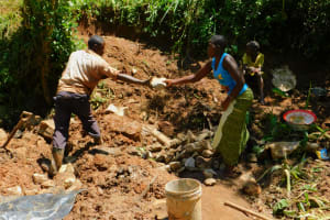 The Water Project: Koitabut Community, Henry Kichwen Spring -  Spring Construction