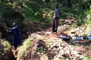 The Water Project: Chepnonochi Community, Chepnonochi Spring -  Spring Excavation