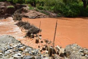 The Water Project: Ngitini Community B -  Sand Dam Construction