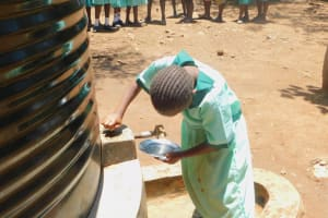 The Water Project: Makunga Primary School -  Plastic Tank
