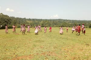 The Water Project: Ivumbu Primary School -  Students Playing On School Grounds