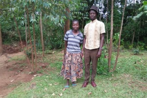 The Water Project: Shihungu Community, Shihungu Spring -  Mr And Mrs Shihungu
