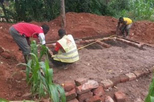 The Water Project: Lugango Primary School -  Latrine Construction
