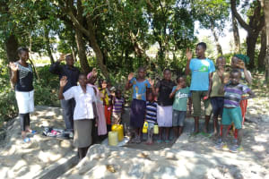 The Water Project: Lunyi Community, Fedha Mukhwana Spring -  Water Flowing