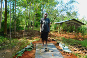 The Water Project: Asimuli Community, John Omusembi Spring -  Sanitation Platform